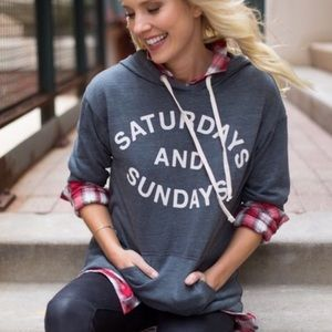 Sundry Saturday's and Sunday's sweatshirt